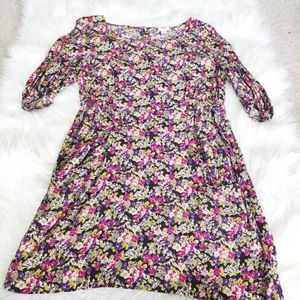 Wilfred floral rayon button back dress